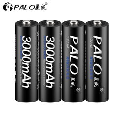 4 шт. AA батарейки, перезаряжаемые батареи 1,2 V AA 3000mAh Ni-MH Предварительно заряженный аккумулятор 2A батареи для камеры фонарик