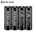 4 Uds pilas recargables AA 1,2 V AA 3000mAh Ni-MH batería recargable precargada 2A Baterias para linterna de cámara
