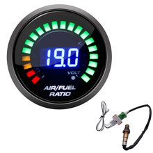 52mm Luft Kraftstoff Verhältnis Gauge LED Digital Display Mit Schmalband O2 Sauerstoff Sensor Auto Gauge für 12V Auto 0258006028 Racing Gauge