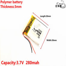 3.7V 280mAh [303030] Polymer lithium ion / Li-ion battery for Voice recorder pen,mp3;mp4,BLUETOOTH,Smart watch(China)