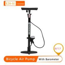 مضخة للدراجة دراجة مضخة هواء منفاخ لإطارات السيارة مع بارومتر الطابق نوع ركوب الدراجة مضخة ضغط عالية الدراجات الملحقات hot