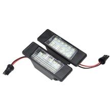DHBH-2Pcs, автомобильные 18 светодиодов, номерные знаки, пластиковые огни для Nissan Qashqai X-Trail Juke Primera, яркие светодиодные номерные знаки Ligh