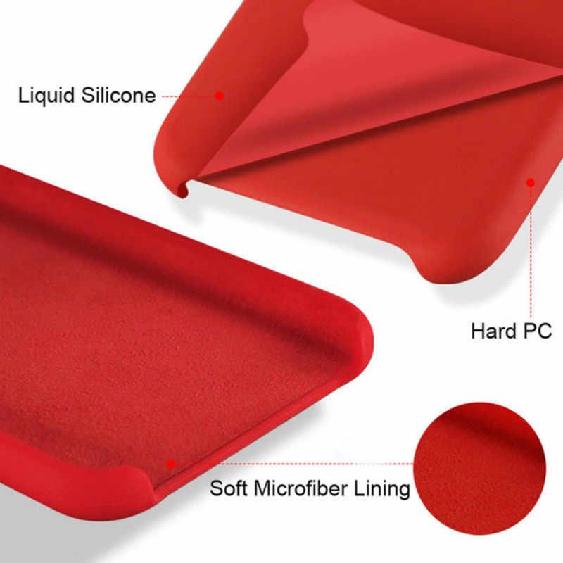 Capa de silicone oficial para xiaomi, capinha protetora com estilo para modelos xiaomi redmi note 8 7 k20 pro xiaomi 8 9 se 9t pro cc9e capa cc9 8 9 a3 lite 6 6x mix 2 3 2s