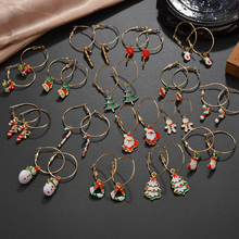 Fashion New Santa Claus Snowman Tassel Earrings For Women Trendy Gold Color Handmade Christmas Dangle Earrings Jewelry Gift santa claus enamel christmas dangle earrings