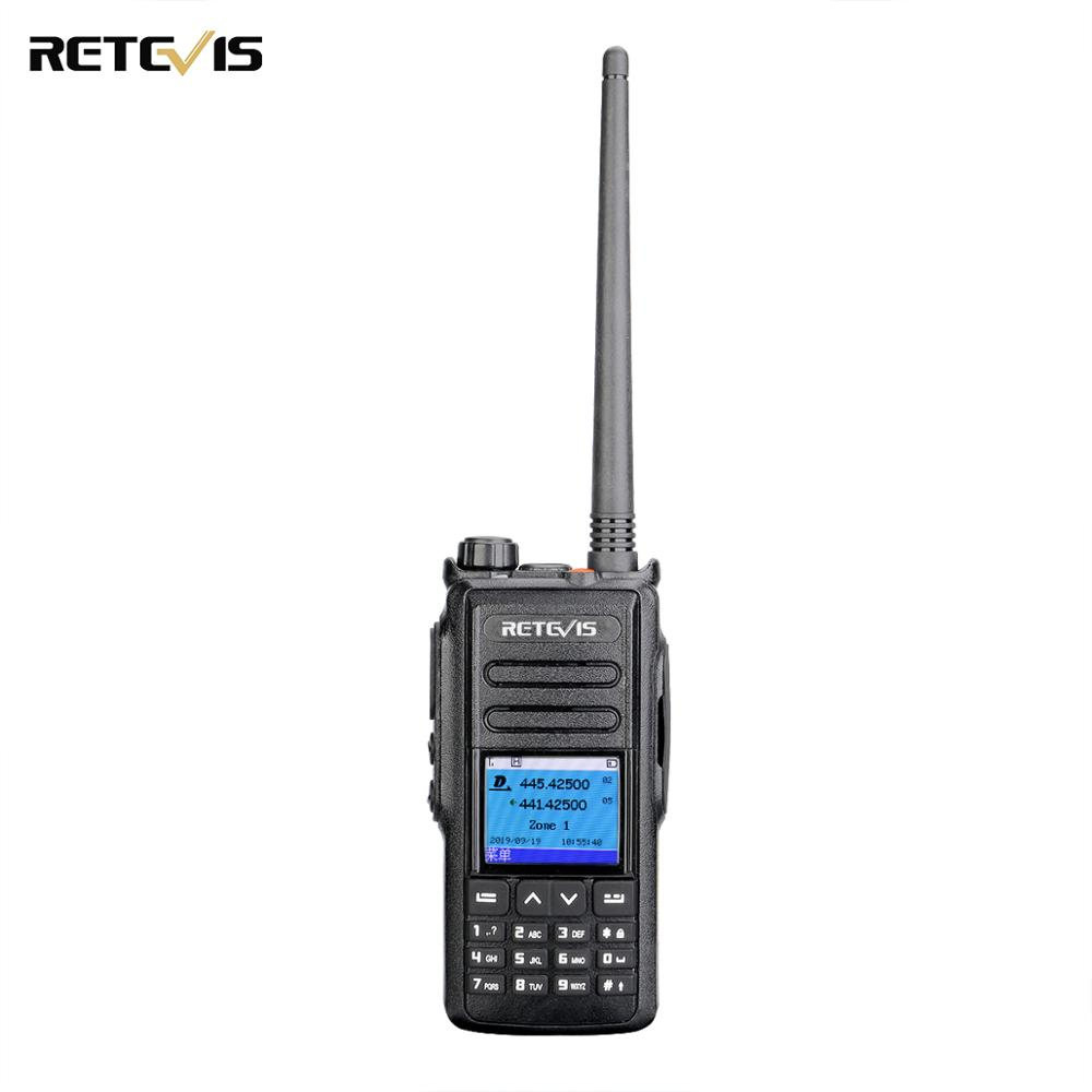 DMR GPS Digital Walkie Talkie 5W Retevis RT72 UHF VHF Dual Band Two Way Radio 4000 CH SMS Digital Radio Handheld Ham Transceiver
