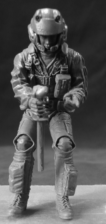 1/24  Modern Man Pilot   Resin Figure Model Kits Miniature Gk Unassembly Unpainted