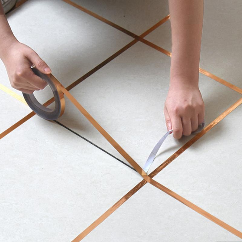 Gold-Silver-Seam-Line-Tile-Self-adhesion-Home-Waterproof-Floor-Sticker-Bathroom-Decor-Waterproof-0-5cm