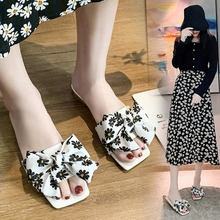 2020 Summer New Slides for Women Fashion Women's Slippers Sexy Flats Bow Sandals Outside Slippers Slides Shoes Zapatos De Mujer 2017 women slides fashion crystal flower flats slippers women red black white summer outside shoes women appliques slippers lady