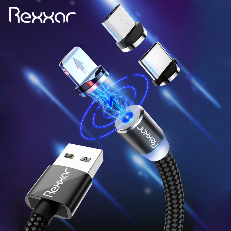 1M 2M Magnetic USB Cable Micro USB Type C Charger Cable Fast Charging For iPhone XS Max