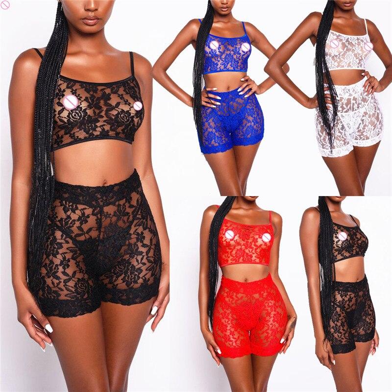 Lingerie Sexy Stripper Clothes Women 2019 2 Pieces Set Micro Bikini Lace Suit Women Underwear Nightwear Exotic Apparel Lingere