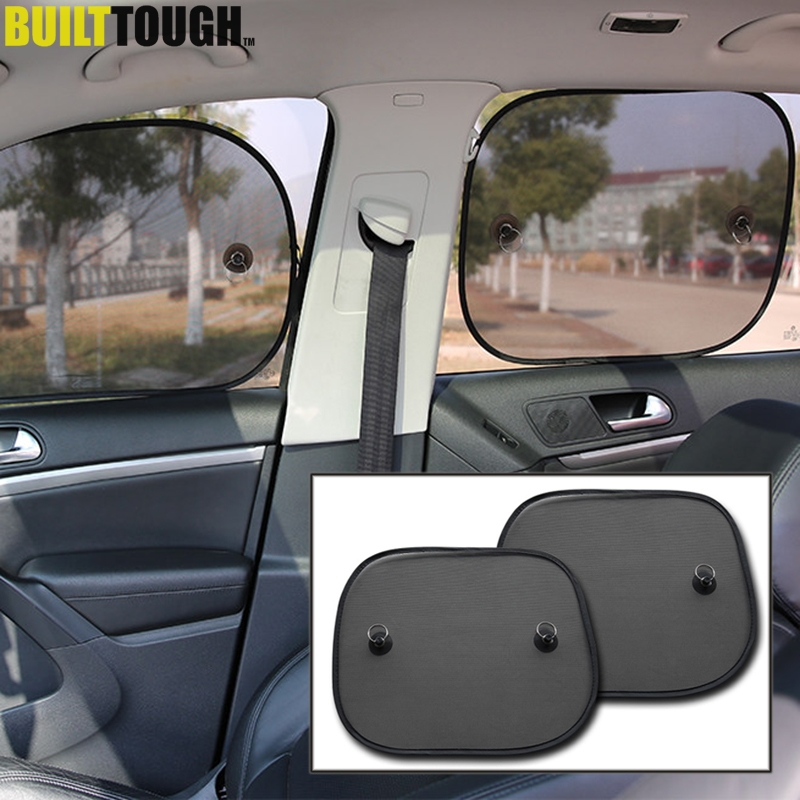 2X Car Side Rear Window Sunshade Sun Shade Cover Visor Shield Screen Black Mesh