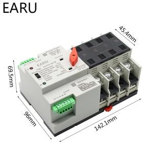 Image 4 - 2/3/4P 100A 110 V/220 V Mini ATS Automatic Transfer Switch Elektrische Wahlschalter dual Power Schalter PV Solar Energie Din Schiene