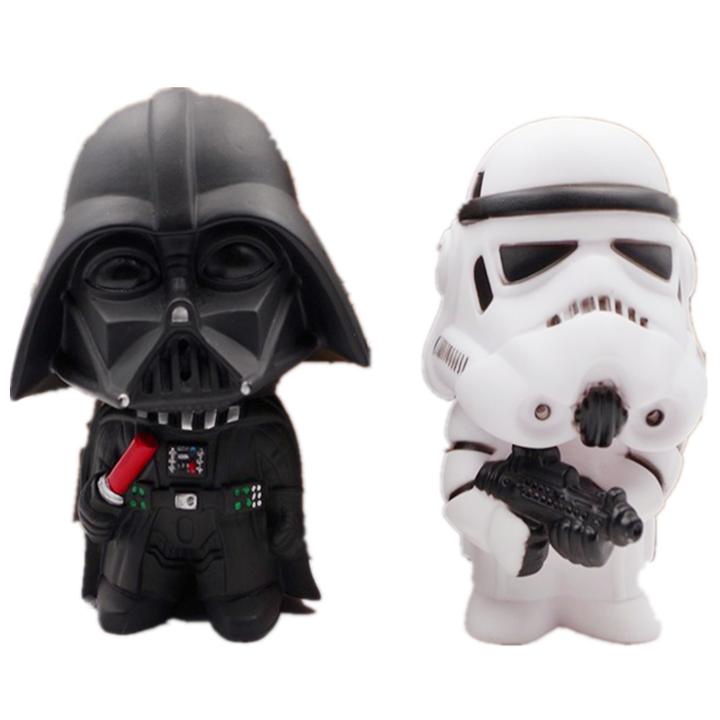 Black Knight Darth Vader And Stormtrooper Jugoot With A 10cm Q Action Figure Car For A Children's Toy Present