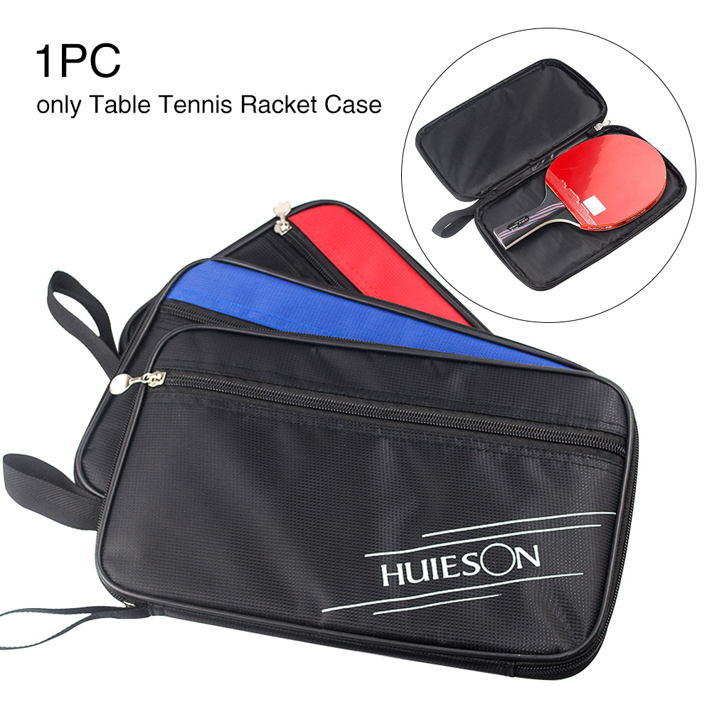 New Square Table Tennis Racket Ping Pong Paddle Bat Bag Pouch Case Cover