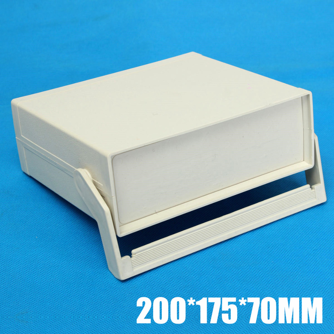 2019 New Plastic Enclosure Electronics Project Case Instrument Shell Box 200 175 70mm Power Control Cabinet With Screws