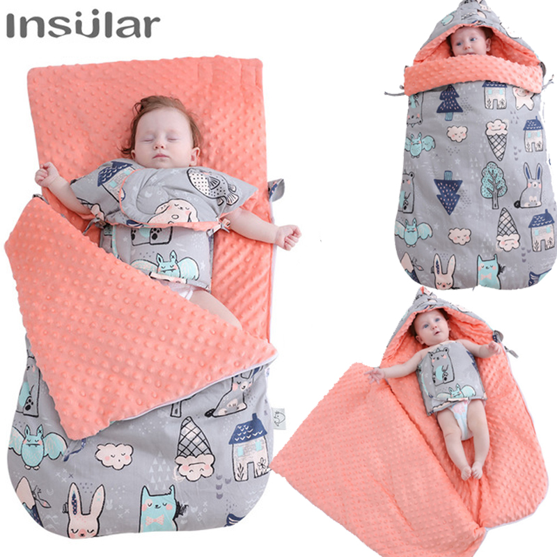 Warm Baby Boys Girls Sleeping Bag Blanket Stroller Quilt Crib Warp Knitting Wool
