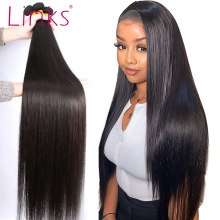 Links 8- 40 Inch Braziliaans Haar Weave Bundels 1/3/4 Straight Bundels Natuurlijke Kleur 28 30 32 34 inch Bundels Remy Hair Extensions(China)