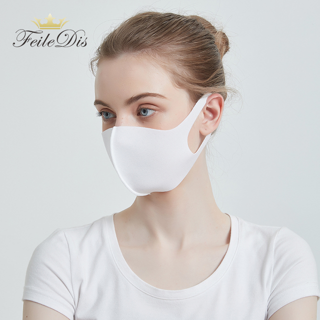 [FEILEDIS]Mouth Mask Anti Haze Dust Washable Reusable Women Men Child Dustproof Mouth-muffle Winter Warm Mask  4 colors