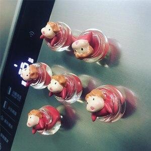 Фигурка аниме Поньо на скале, высокое качество, капли воды, 3d магниты на холодильник, домашнее украшение, игрушки для детей