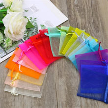 50pcs/lot 7x9 9x12 10x15 13x18cm Organza Bag Wedding Candy Bag Fashion Special Design Storage Jewelry promotion Gifts Package