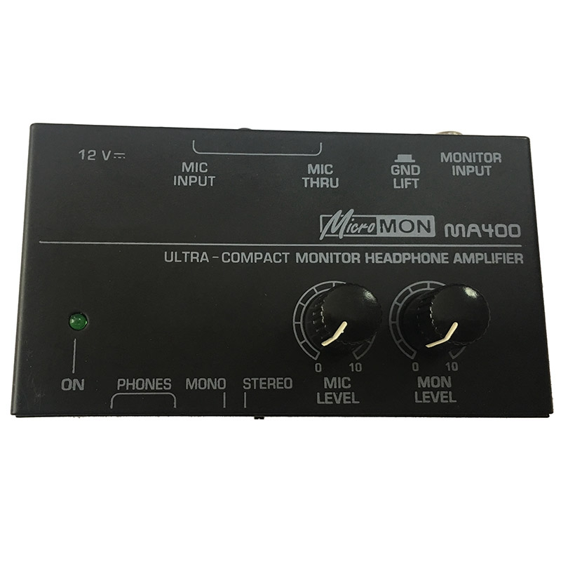 New Ma400 Headphone Preamplifier Microphone Preamplifier Headphone Preamplifier Personal Monitor Mixer,Eu Plug