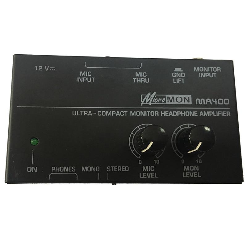 New Ma400 Headphone Preamplifier Microphone Preamplifier Headphone Preamplifier Personal Monitor Mixer Eu Plug|Microphone Accessories| |  - title=