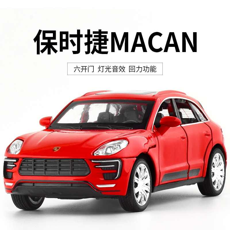 1:32 high simulation  Macka car sound and light pull back alloy car model toys for children gifts