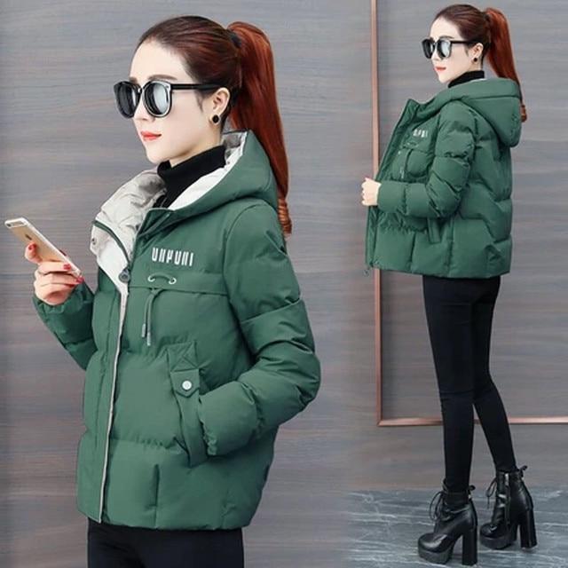 2020 nouvelle veste d'hiver femmes Parkas à capuche épais vers le bas coton rembourré Parka femme veste courte manteau mince vêtements d'extérieur chauds P772 3