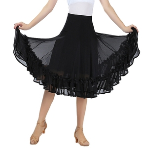 Image 2 - جديد قاعة الرقص تنورة رقص امرأة قاعة الرقص فساتين المنافسة الحديثة القياسية الأداء الفالس السالسا رومبا أزياء رقص