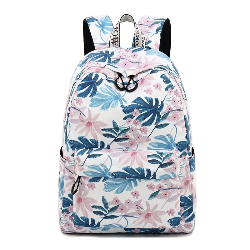 Women Backpacks Floral Print Backpacks Canvas Backpack School Bag For Girls Rucksack Female Travel Backpack
