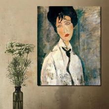 Amedeo Modigliani Figure Painting Wallpaper Canvas Painting Print Living Room Home Decor Modern Wall Art Oil Painting Poster HD classic amedeo modigliani picasso artwork collection sketch canvas print painting poster wall pictures living room home decor