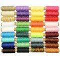 36 цветов 150D Кожа ремесло швейная Вощеная линия  DIY ручная швейная нить 50 метров в длину/рулон для ремонта обуви плоская Вощеная линия