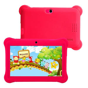 Educational Tablet Learning-Machine Children Cartoon with Us-Plug -Red-1pc 7-Inches Dual-Cameras