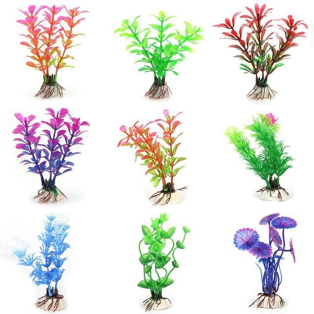 Artificial Aquarium Plant Decoration Fish Tank Submersible Flower Grass Decor Ornament For fish tank Decor Pet Supplies 4