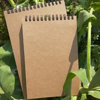 50 arkuszy Khaki Sketchbook notes spiralny wewnętrzny pusty biały zeszyt papierowy do malowania pisanie rysunkowe tanie i dobre opinie CN (pochodzenie) Khaki Sketchbook Spiral Notebook