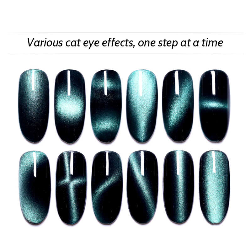 Multi Funcation 12 Magnetic Nail Art Stick 3D Kucing Mata Efek Kuat Magnet Papan Lukisan Gel Kuku bahasa Polandia Alat