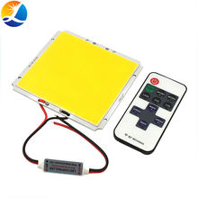 100 x95mm 12V 50W LED-Panel Licht Dimmbar COB LED Lampe mit Controller Dimmer Tag Weiß Farbe für haus Beleuchtung Floodlilghts(China)