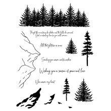 Прозрачный силиконовый штамп snow mountain/печать для скрапбукинга/фотоальбома