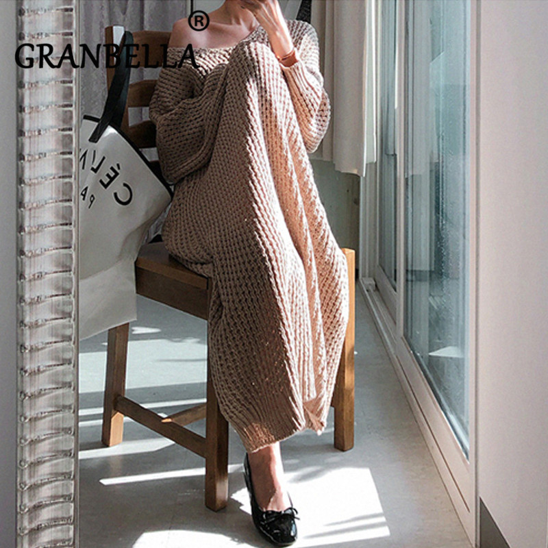 Lace-up Openwork Oversized Sweater Knitted Women Jumper Pullover Long Sleeve Twisted V Neck Solid Fashion Warm Sweaters