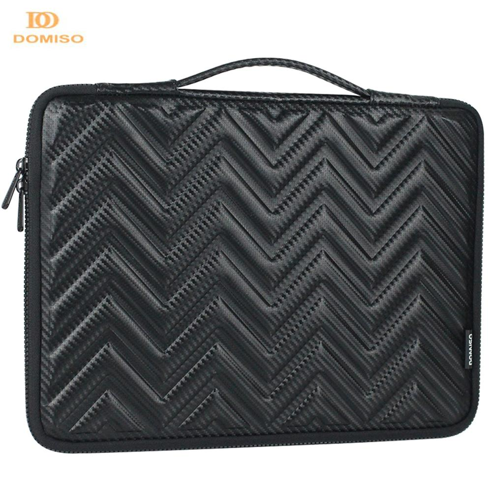 DOMISO 10 13 14 15.6 Inch Shock Resistant Waterproof Laptop Bag With Handle Protective Case Compatible