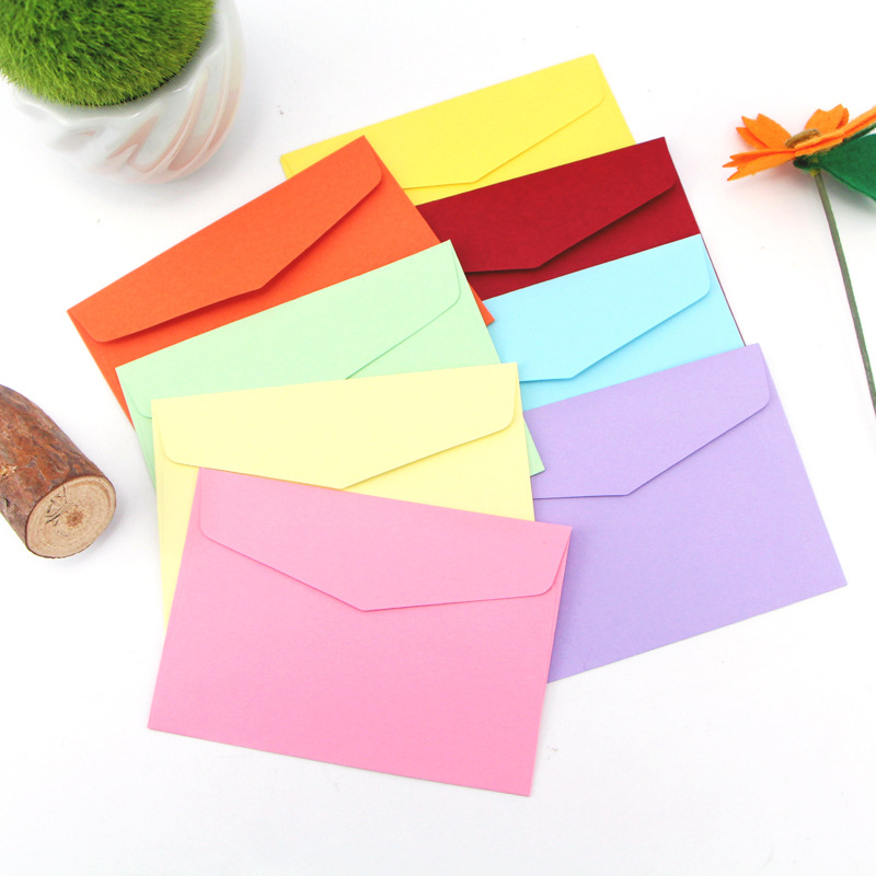 Manufacturers Direct Selling Colored Envelope Customizable Candy-Colored Cai Jiao Zhi Western-style Envelope Wholesale-Printing