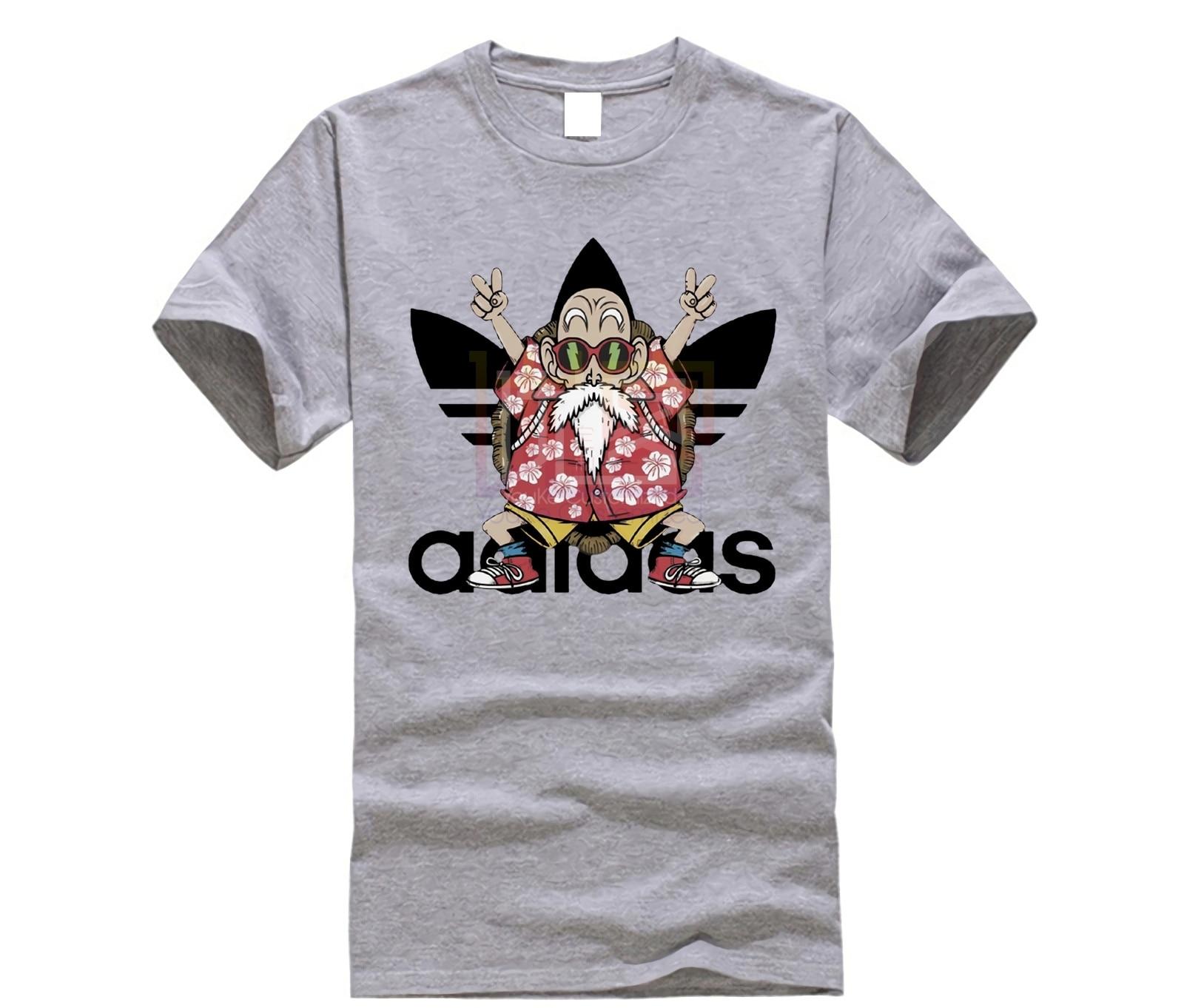 Nerd Parody Cartoon Kame Senin Muten T Shirt Men Japanese Dragon Ball Z Tee Shirt Super Saiyan T-shirt Anime Master Roshi Tshirt