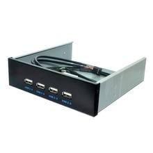 5,25 дюймов ячейка для дискет 4 порта USB 2,0 концентратор USB2.0 Передняя панель расширительный адаптер Соединительный кронштейн с 9-контактным кабелем для настольного компьютера