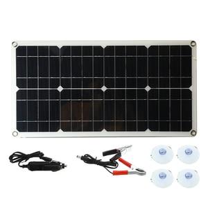 Image 4 - 50W Monocrystalline Silicon Bảng Điều Khiển Năng Lượng Mặt Trời Cell Cho Pin Điện Thoại Sạc Lửa Đôi Giao Diện USB 12 V/ 5V