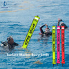 Surface Marker Buoy 1.5m 1.8m Colorful Diving SMB with Visibility Safety Inflatable Buoy for divers dive kit Accessory