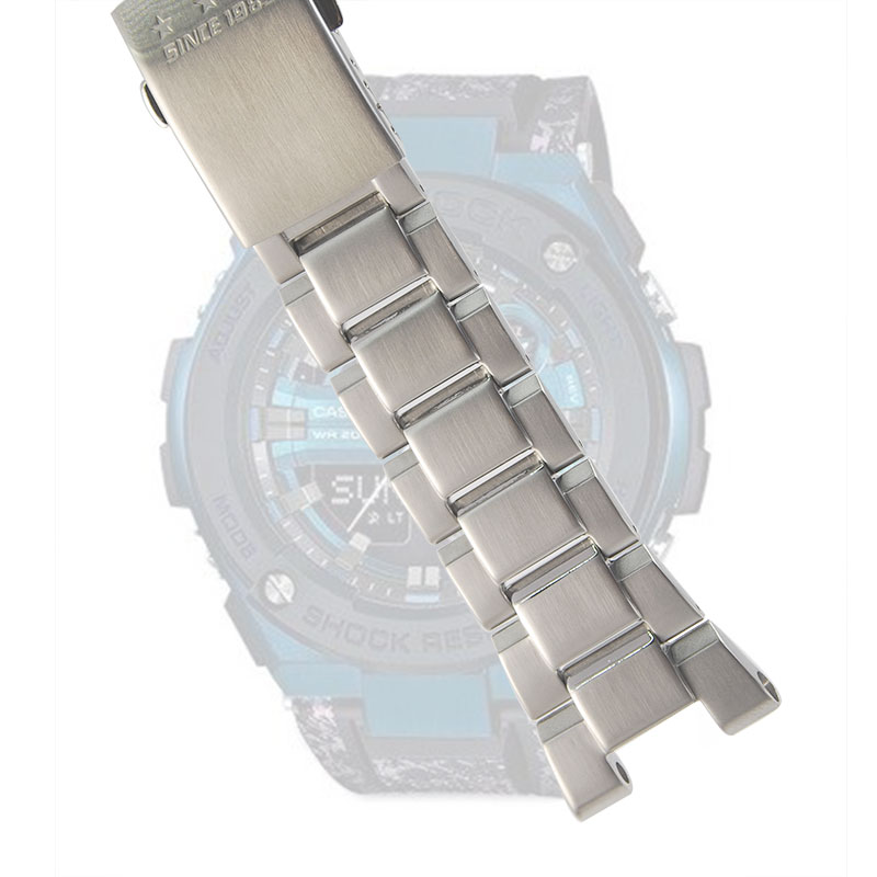 Timelee Stainless Steel Watchband For GST-B100/S130/W300GL/400G/W330 GST-W120L/S120/W130L/S100/S110 Watch Strap