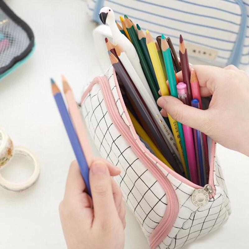lápis caneta caso material escolar lápis caixa