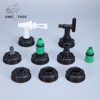 S60*6 IBC tank adapter plastic Garden Tap Valve Irrigation Connector water tank fittings Durable