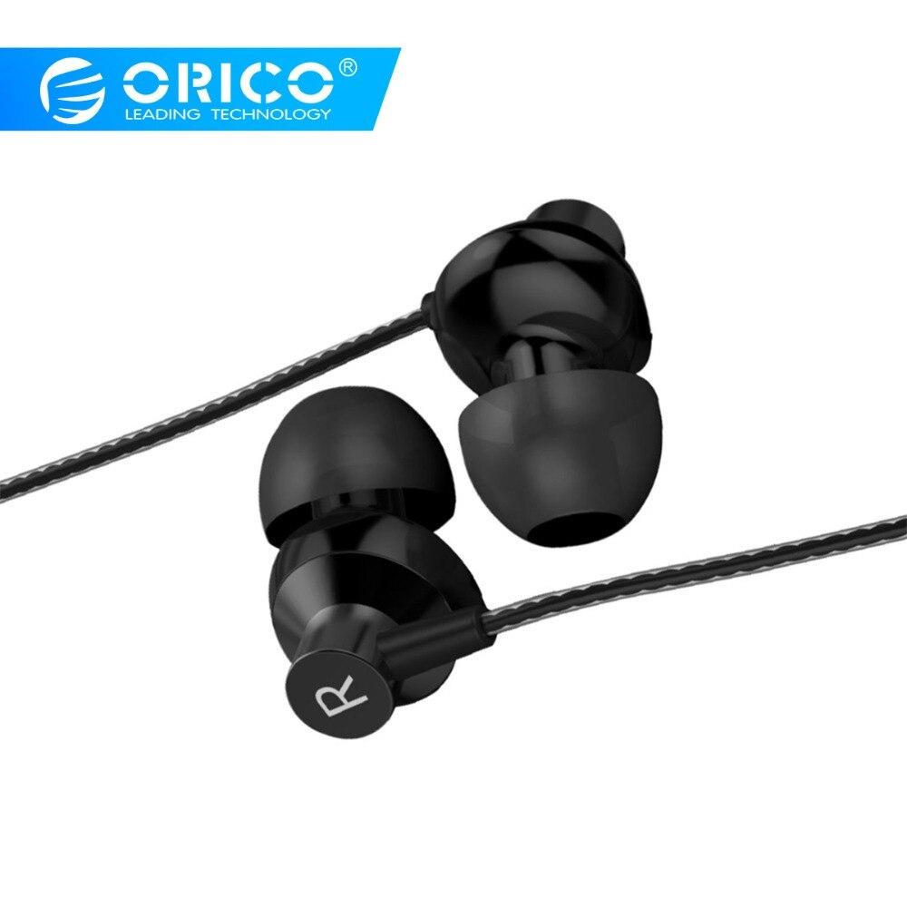 ORICO Fone de ouvido de Metal Fones de ouvido de Baixo Som de Música de Alta Qualidade 3,5 milímetros Esporte Xr Xiaomi fone de ouvido com Microfone do Fone de ouvido para o iphone fone devido