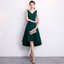 Plus Size Evening Host Dresses 24 models Chiffon V Neck Simple Satin Party Gown Soiree Sexy Formal Dress MS-0068 hdy haoduoyi west style simple v neck asymmetrical hem chiffon micro perspective sexy maxi party dress women dresses